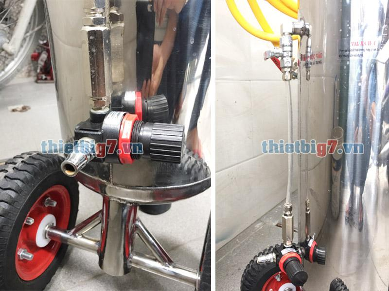 Van chỉnh áp và van khóa 1 chiều máy phun bọt tuyết 22l