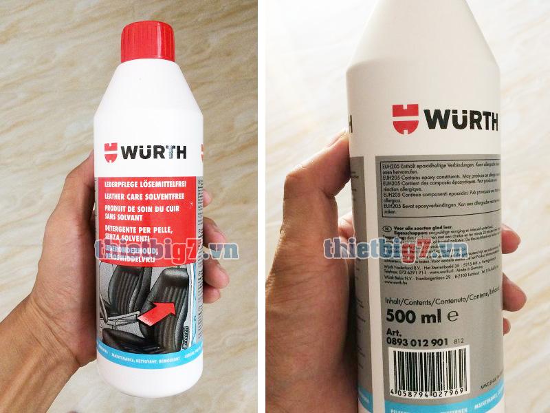 Hình ảnh thực tế dung dịch bảo dưỡng da Wurth 500ml