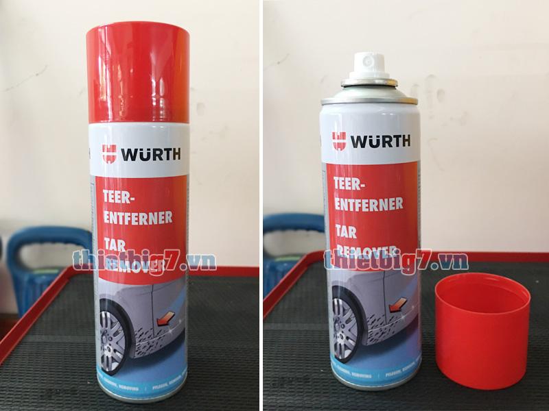 Hình ảnh thực tế dung dịch tẩy rửa nhựa đường Wurth