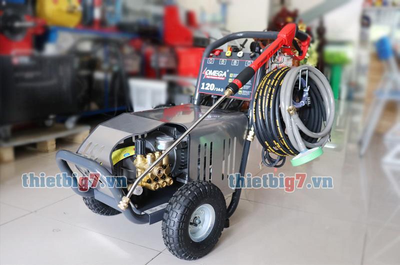 Hình thực tế máy rửa xe cao áp Omega 120bar 3kw