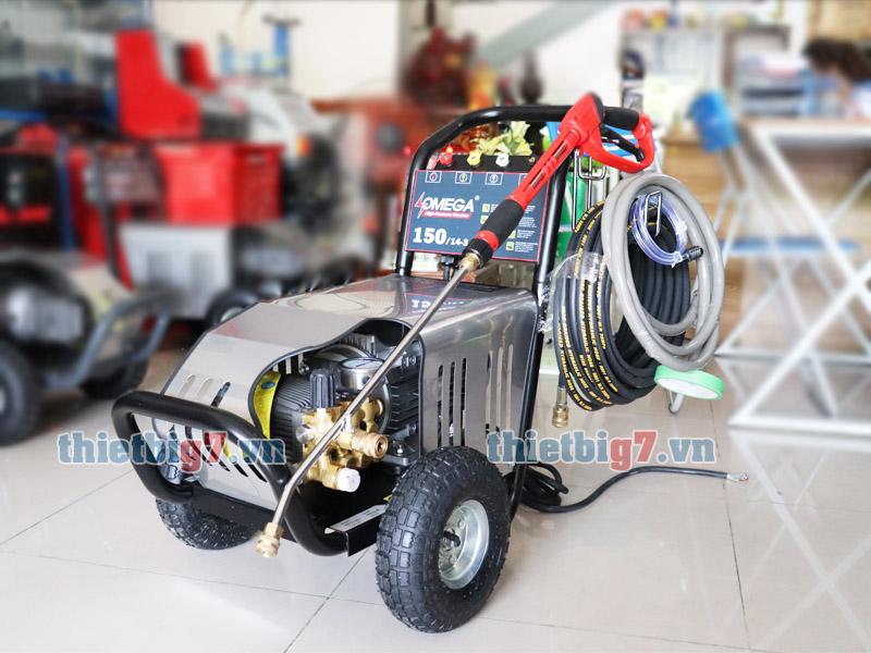 Hình ảnh thực tế máy rửa xe cao áp Omega 150bar