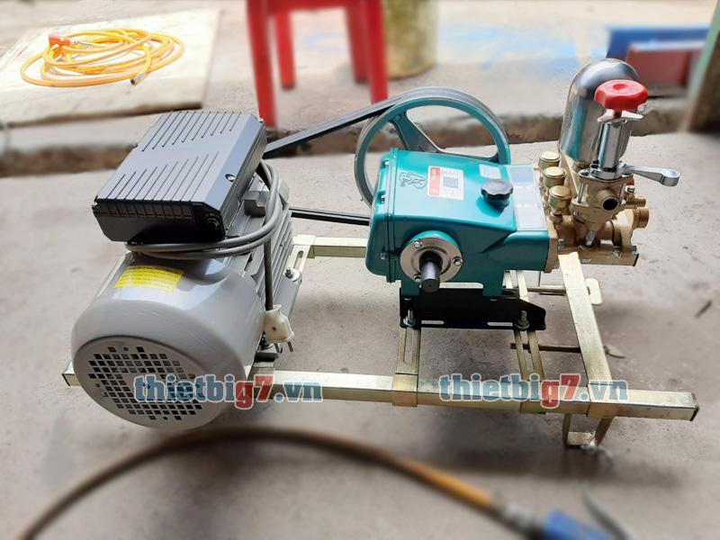 hình ảnh thực tế máy rửa xe dây đai 2HP