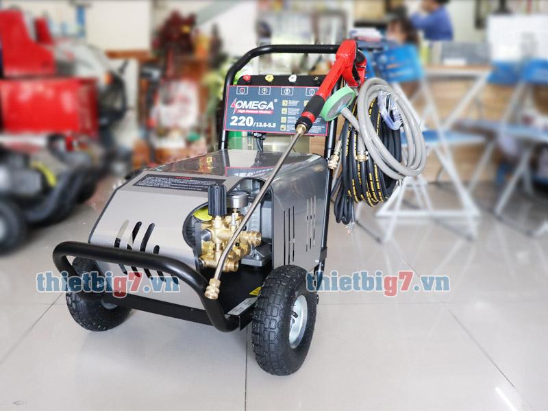 Hình ảnh thực tế máy rửa xe cao áp Omega 220bar 5.5kw