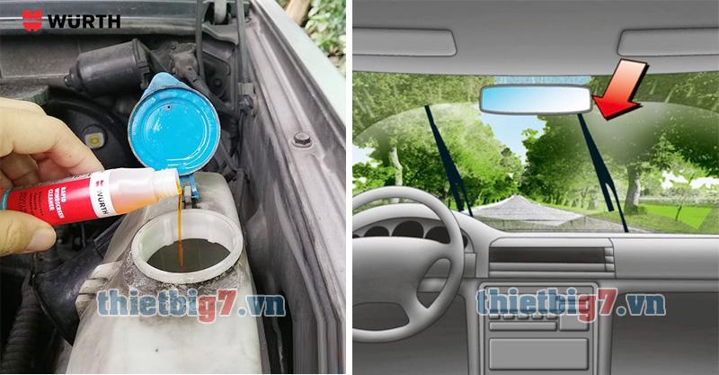 Nước rửa kính lái Wurth làm sạch kính lái giúp tầm nhìn xa và rõ