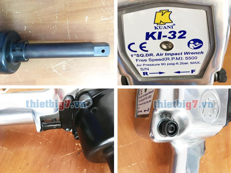 Hình ảnh súng vặn ốc dùng khí nén 1 inch Kuani KI-32-6