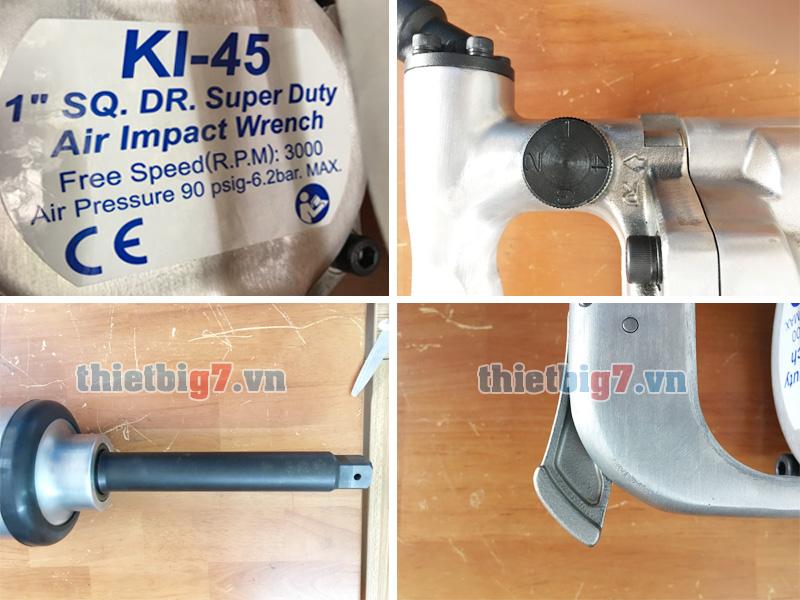 Hình ảnh súng vặn ốc bằng khí nén 1 inch Kuani KI-45-8