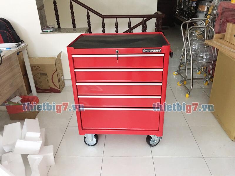 Tủ đựng đồ nghề 5 ngăn thiết kế tay kéo và 4 bánh xe linh hoạt